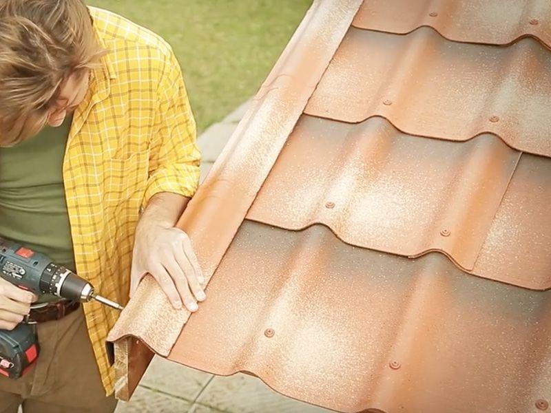 Remate lateral tejas para casetas de madera