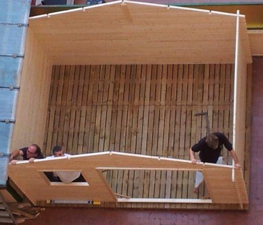 Suelo de palets para casetas de madera