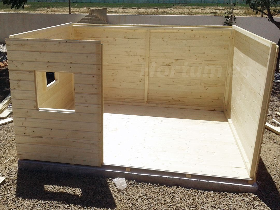 montaje casetas para jardin paneladas