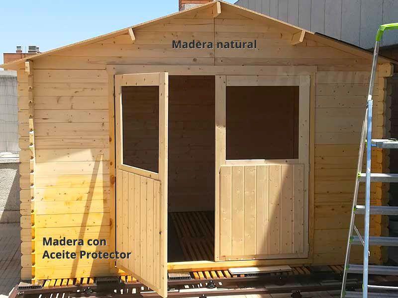 Aceite protector para casetas de madera Hortum