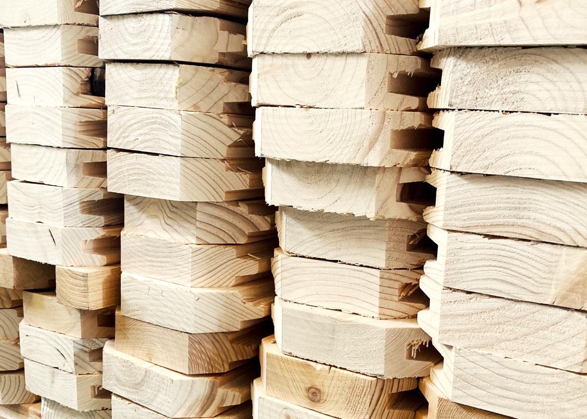 Lamas de caseta de madera