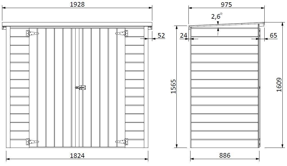 Armario de exterior en madera Modelo Guarda Bicis