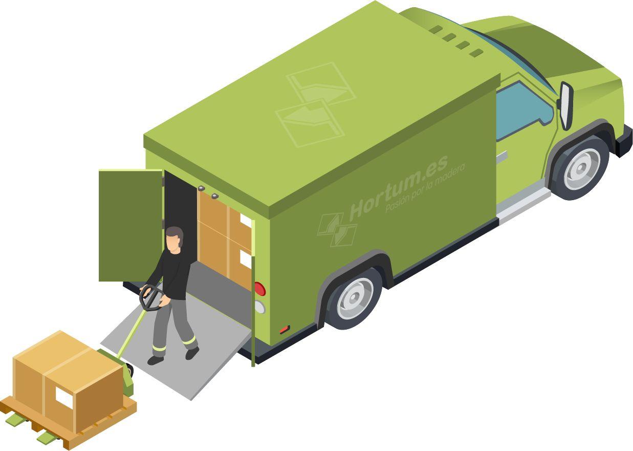 Transporte en camión plataforma hortum