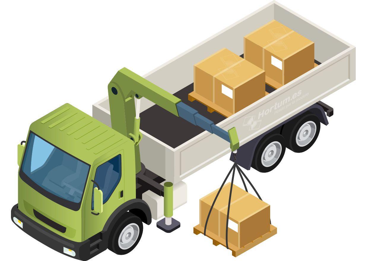 Transporte en camión grúa hortum