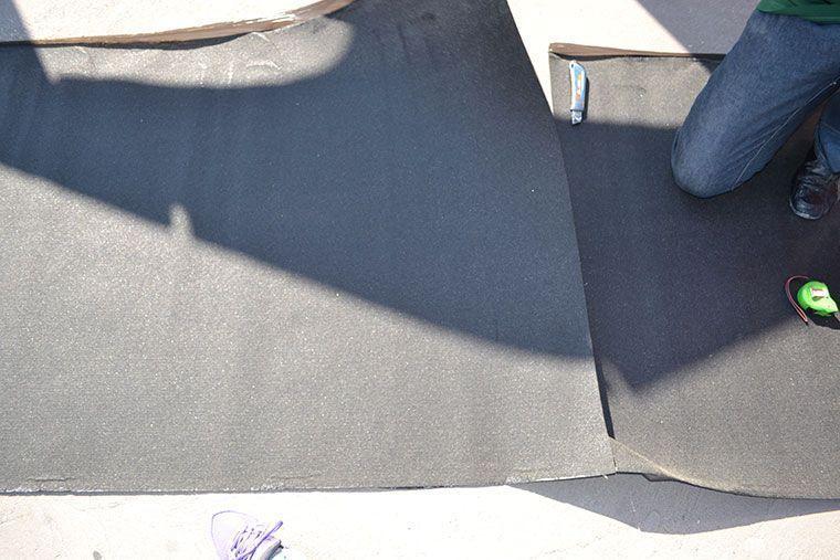Tela asfaltica con aluminio free elegant tela de drenaje - Tela asfaltica de pizarra ...