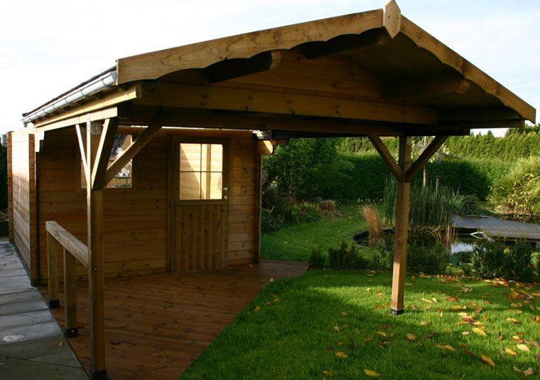 Apertura automática de techo en caseta de madera