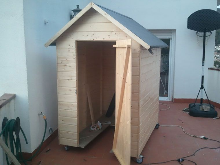 Caseta de madera económica para guardar telescopio