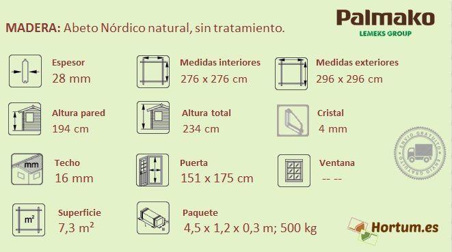 Cabaña Lotta 7.3 m² de Palmako