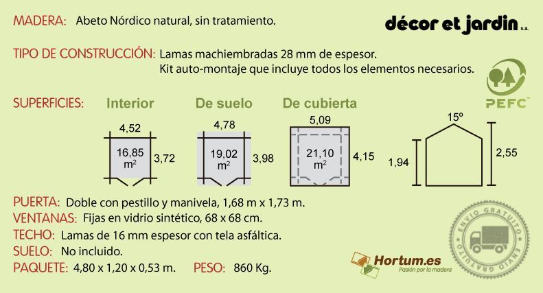 Ficha tecnica caseta Arica