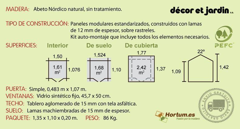 Ficha técnica Caseita madera infantil Balu