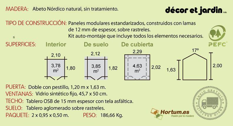 Ficha técnica caseta de madera Lode