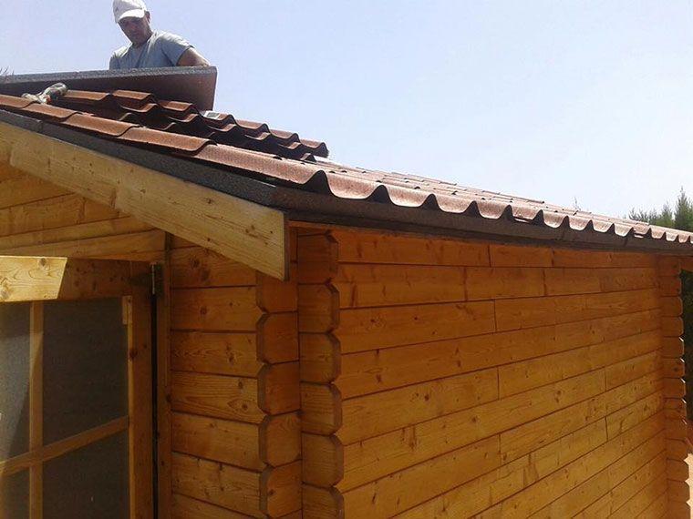 Colocacion teja onduvilla sobre paneles de poliestireno estructurado