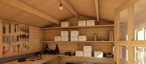 garaje madera interior