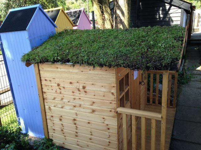 techo verde casitas infantiles de madera