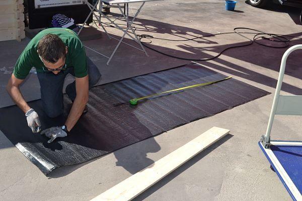 Kit rollos tela asf ltica 6 unds para caseta lisa 22 m - Tela asfaltica de pizarra ...